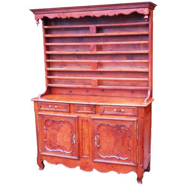 Antique 19th Century Cherrywood and Walnut Dresser