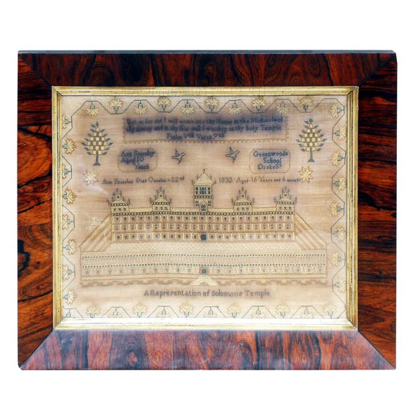 19th Century English Needlework Sampler