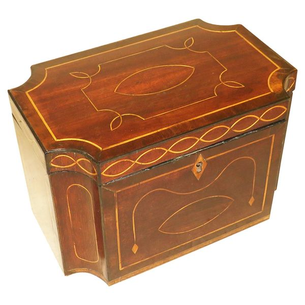 Mahogany 18th Century Tea Caddy