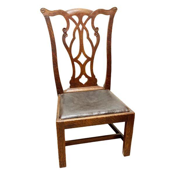 19th Century Antique Oak Hepplewhite Style Childs Chair