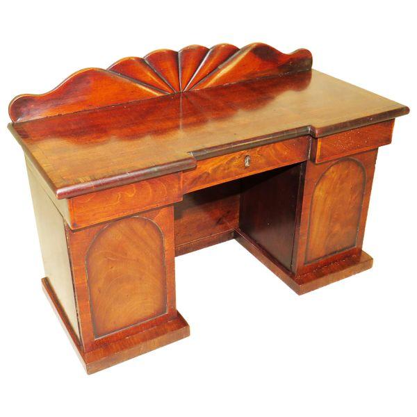 Charming Regency 19th Century Mahogany Tea Caddy Miniature Sideboard
