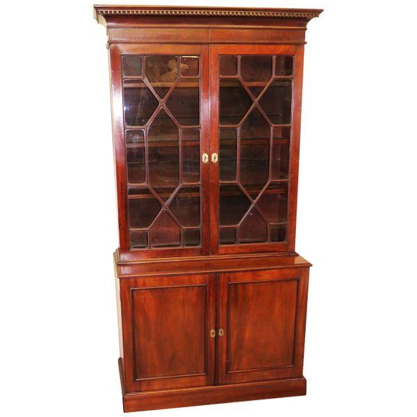 Small 18th Century Mahogany Cupboard Base Bookcase