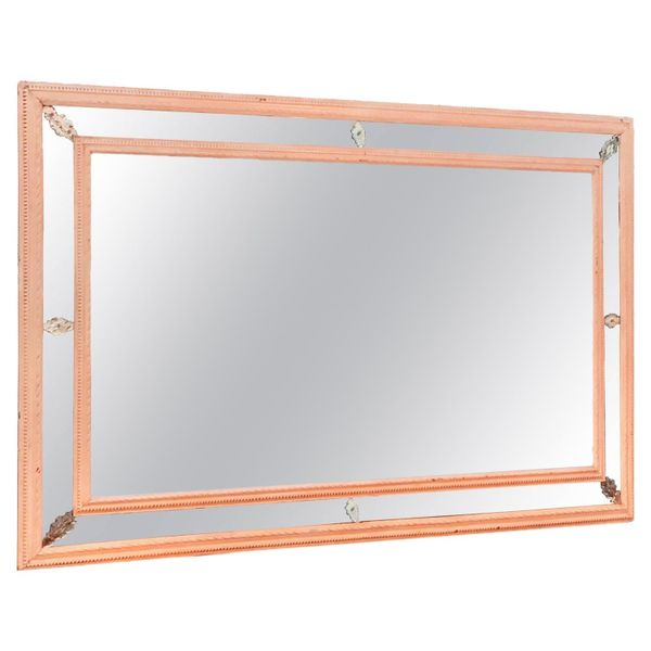 Large 19th Century European Painted Wall Mirror