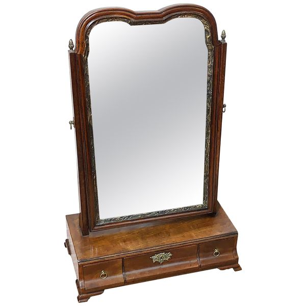 Georgian 18th Century Mahogany Dressing Table Mirror