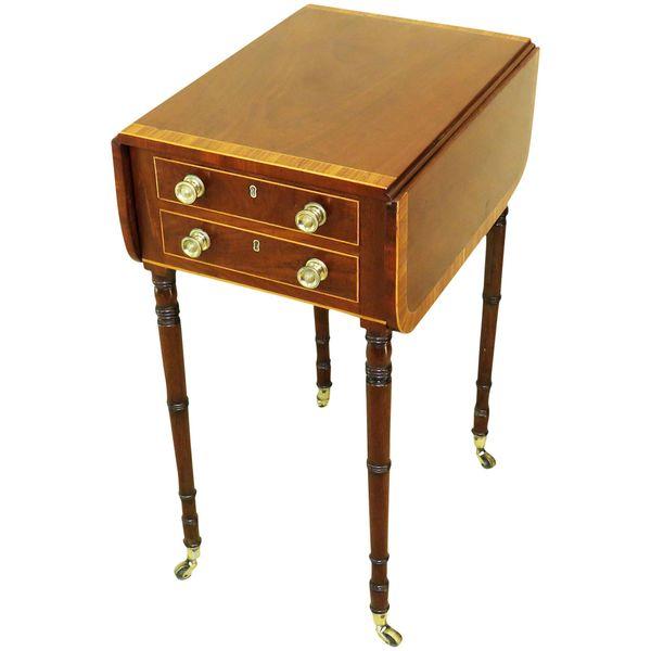 Georgian Mahogany Antique Baby Pembroke Table