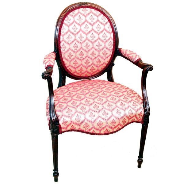 Antique Hepplewhite Period Mahogany Armchair