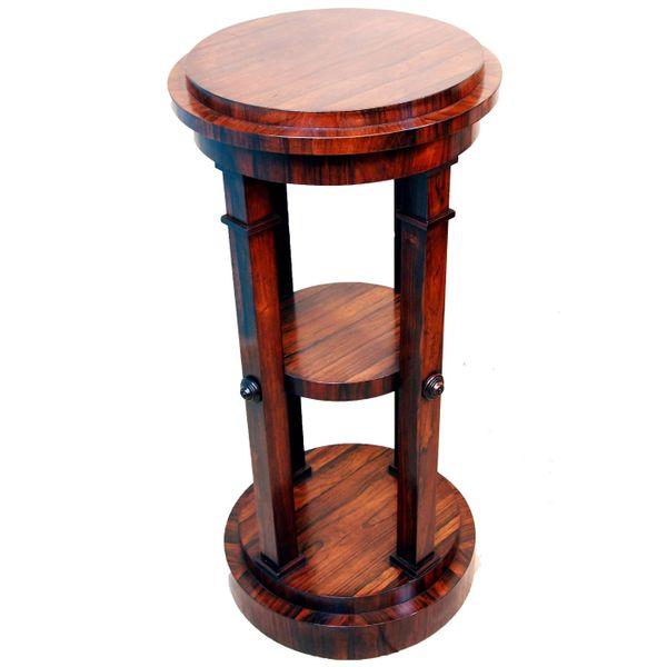 Antique Regency Rosewood Sculpture Stand or Pedestal