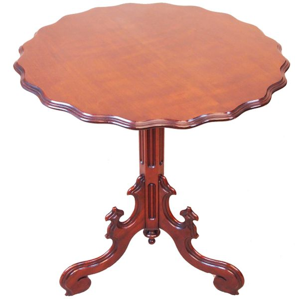 Antique 19th Century Mahogany Tripod Lamp Table