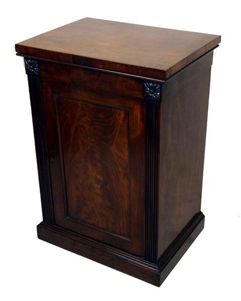 Antique Georgian Mahogany Pedestal Cupboard