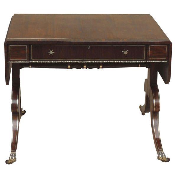 Regency Rosewood Sofa Table