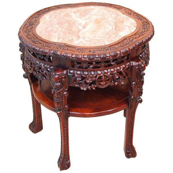 Antique 19th Century Oriental Hardwood Table
