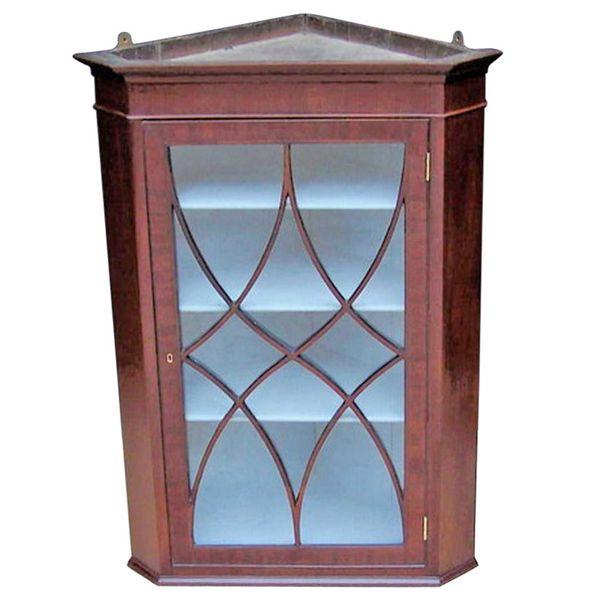 Early 19th Century Mahogany Hanging Corner Cabinet