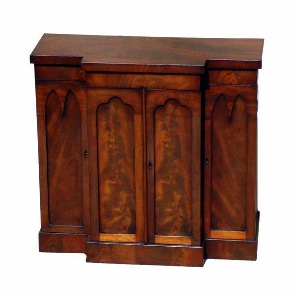 Mid 19th Century English Miniature Mahogany Antique Table Cabinet